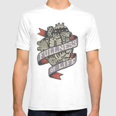 Fullness Of Life Mens Fitted Tee White SMALL