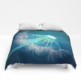Pusteblume Blau Comforters