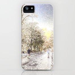 Greenwich Park London Snow Art iPhone Case