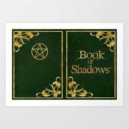 Green Book of Shadows v2 Art Print