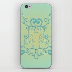 Mint tendrils emblem iPhone & iPod Skin