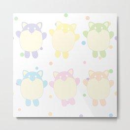 Chubby Kitties Metal Print
