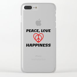 Peace and Love Clear iPhone Case