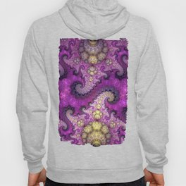 Dragon spirals and orbs in pink, purple and yellow Hoody