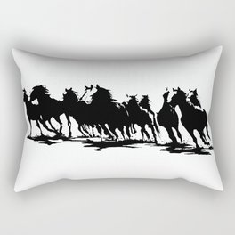 galloping horses Rectangular Pillow