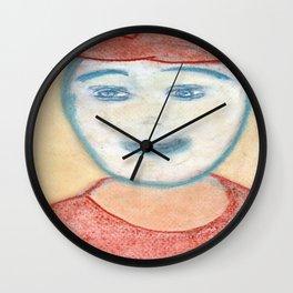 Spiritual Chalks Drawing of USA President George W. Bush Wall Clock