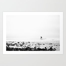 Malibu California Surfer Art Print