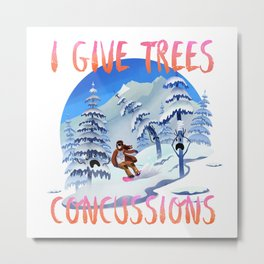 Snowboard Steve - I give trees concussions Metal Print