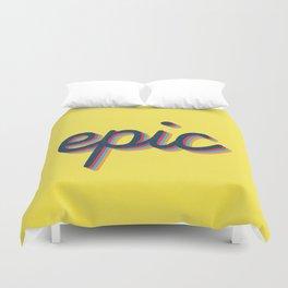 Epic - yellow version Duvet Cover