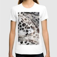 snow leopard T-shirts featuring Snow Leopard by Moody Muse
