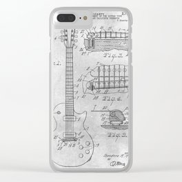 Stringed electric guitar Clear iPhone Case