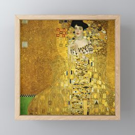 Portrait of A. Bloch-Bauer I by Gustav Klimt Framed Mini Art Print