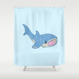 Shocked Little Whale Shark Shower Curtain