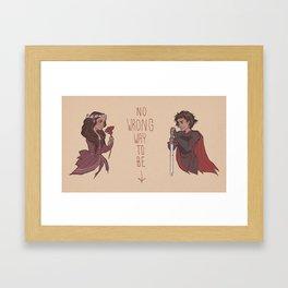 No Wrong Way, Ladies Framed Art Print