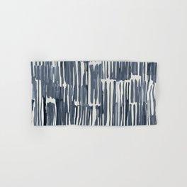 Simply Bamboo Brushstroke Indigo Blue on Lunar Gray Hand & Bath Towel