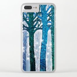 The forest of fireflies Clear iPhone Case