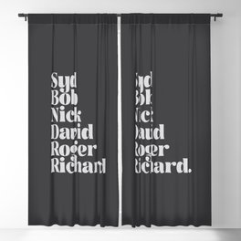 English rock band members | Rock and roll gift Blackout Curtain