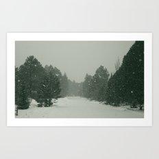 snow. Art Print