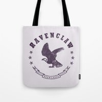 ravenclaw Tote Bags featuring Ravenclaw House by Shelby Ticsay