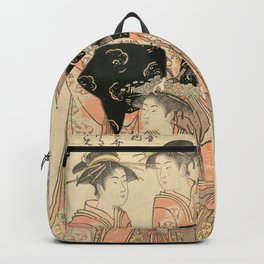 The Courtesans Maizumi Of The Daimonjiya Brothel Backpack