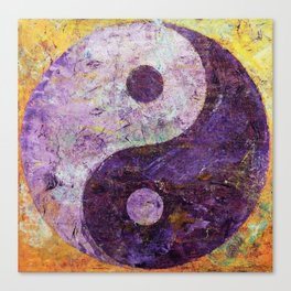 Purple Yin Yang Canvas Print