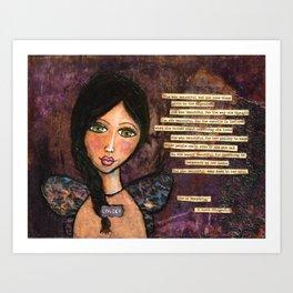 She is Beautiful Art Print
