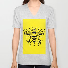 Save the bumblebee by #Bizzartino Unisex V-Neck
