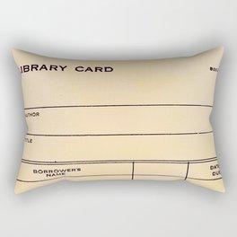 Library Card BSS 28 Rectangular Pillow