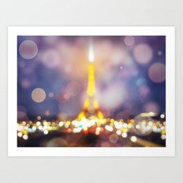 Abstract Eiffel Tower Art Print
