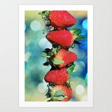 Berry Bokeh Art Print