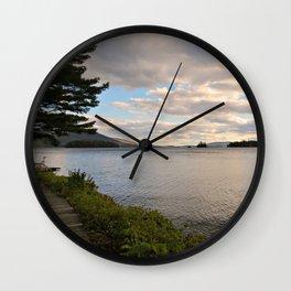 Lake Before Dusk Wall Clock