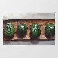 avocado Area & Throw Rugs featuring Avocado Love  by The Avant-Garden