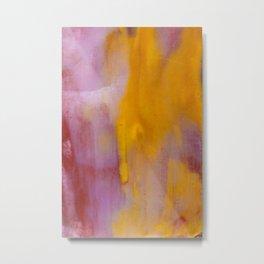 Yellow and Purple Abstract Metal Print