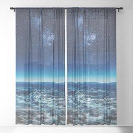 Subtle Galaxy Sheer Curtain