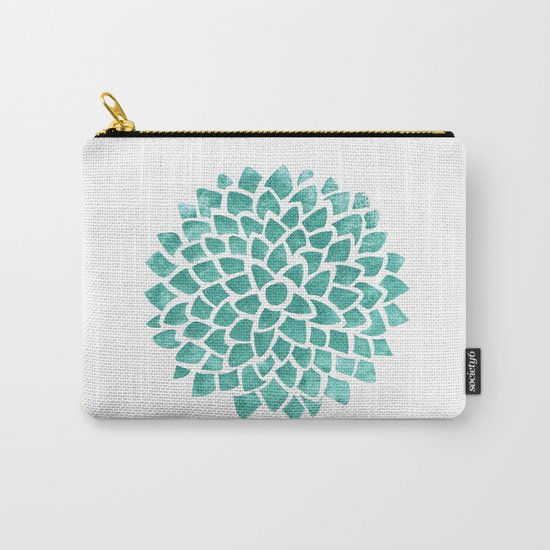 Teal Ice Carry-All Pouch