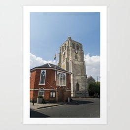 Bell Tower and Town Hall Art Print