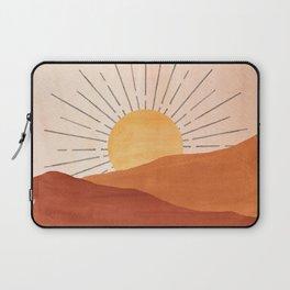 Abstract terracotta landscape, sun and desert Laptop Sleeve