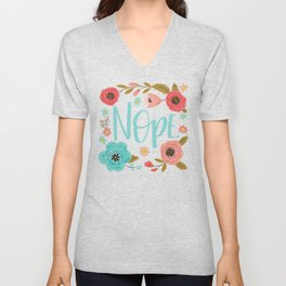 Pretty Not So Swe*ry: Nope, in Blue Unisex V-Neck