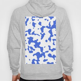 Large Spots - White and Royal Blue Hoody