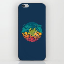 Aquatic Rainbow iPhone Skin