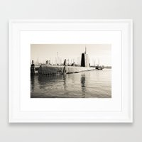 submarine Framed Art Prints featuring Submarine by Color Outside The Lines  {RV}
