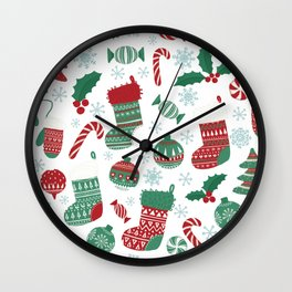 Christmas Pattern 05 Wall Clock