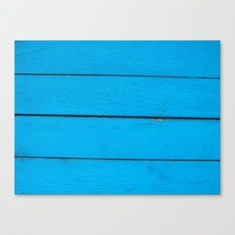Blue old wood Canvas Print