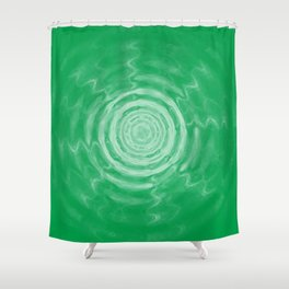 Ripples_Green Shower Curtain