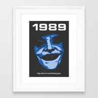 1989 Framed Art Prints featuring 1989 by KNJ-