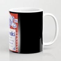 bukowski Mugs featuring bukowski by Mathiole