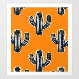 Cacti Cactus Pattern Art Print