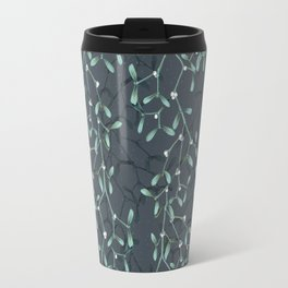 Under The Mistletoe Pattern Travel Mug