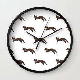 Run free Mr Pine Marten Wall Clock