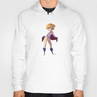 girl power Hoodies featuring Power Girl by Luján Fernández